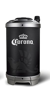Corona 00721 Tailgate Bluetooth Trolley Speaker with Wireless Microphone & Karaoke function Black (00721)
