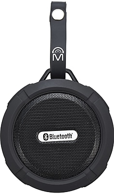M 72328 Indoor Outdoor round Bluetooth speaker with carry strap Black (72328)