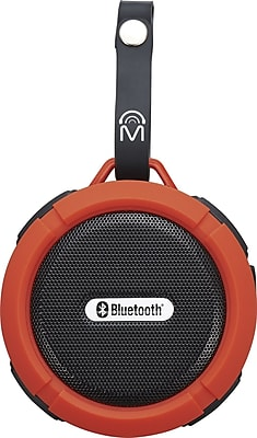 M 72330 Indoor Outdoor round Bluetooth speaker with carry strap Red (72330)