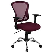 Flash Furniture Mid-Back Office Chair, Burgundy