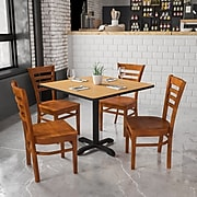 Flash Furniture  Hercules Series Ladderback Wood Restaurant Chair, Cherry Finish (XUDGW0005LADCHY)