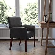 Flash Furniture Executive Leather Reception Chair, Black (BT-353-BK-LEA-GG)