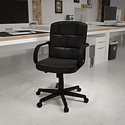 Flash Furniture Faux Leather Computer and Desk Chair, Black (GO228SBKLEA)