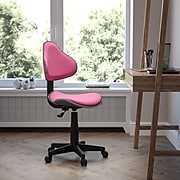 Flash Furniture Fabric Ergonomic Task Chairs With Chrome Metal Band Accent (BT699PINK)