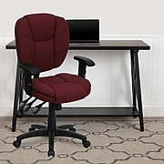 Flash Furniture Fabric Multi-Functional Ergonomic Task Chairs With Arms (GO930FBYA)