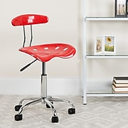 Flash Furniture Polymer Vibrant Computer Task Chairs With Tractor Seat (LF214CHYTOMATO)