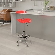 Flash Furniture Vibrant Drafting Stools With Tractor Seat (LF215CHYTOMATO)