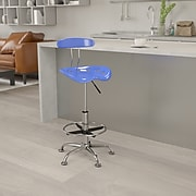 Flash Furniture Vibrant Drafting Stools With Tractor Seat (LF215NTCLBLUE)