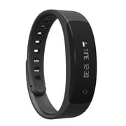 Laud Bluetooth Fitness Tracker Sweat Proof Band with Smart Watch Functions, Black (LAUDLXFB8-BLK)