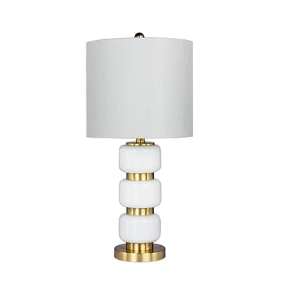 Fangio Lighting Incandescent Smooth, Stacked Glass Table Lamp, 26