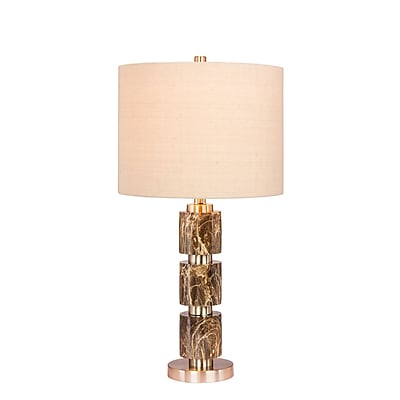 Fangio Lighting Incandescent Stacked, Smooth Table Lamp, 27