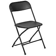 Flash Furniture HERCULES Plastic Office Chair, Black (LE-L-3-BK-GG)