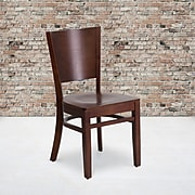Flash Furniture Lacey Series Solid Back Restaurant Chair, Walnut Wood Frame Finish, 2bx XUDGW094WAL