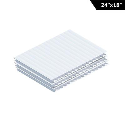 Adiroffice White Corrugated Plastic Sheets 0.15