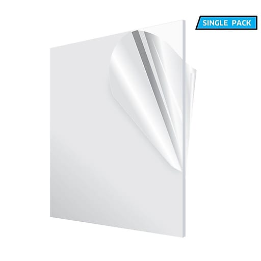 "Adiroffice Acrylic Clear Water Resistant & Weatherproof Plexiglass Sheet, 12"" x 12"", 1/8"" Thick (1212-1-C)"
