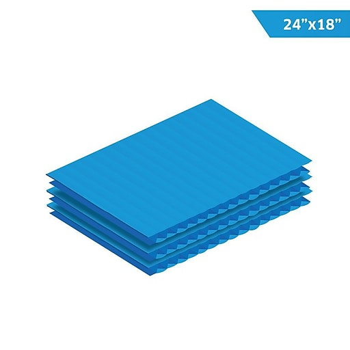 "Adiroffice Corrugated Plastic Sheets - Sign Blanks Short-Flute - 0.15"" Thick - 18""X 24"" 24 Pack Blue (CS2418-24-BL)"