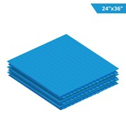 "Adiroffice Blue Corrugated Plastic Sheets 0.15"" Thick - 24""X 36"" 12 Pack (CS2436-12-BL)"