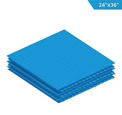 Adiroffice Blue Corrugated Plastic Sheets 0.15