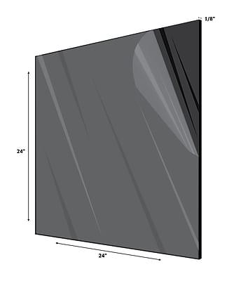 Adiroffice Acrylic Black Water Resistant & Weatherproof Plexiglass Sheet 24