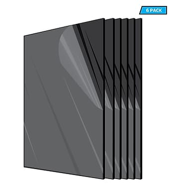 Adiroffice Acrylic Black Water Resistant & Weatherproof Plexiglass Sheet 12
