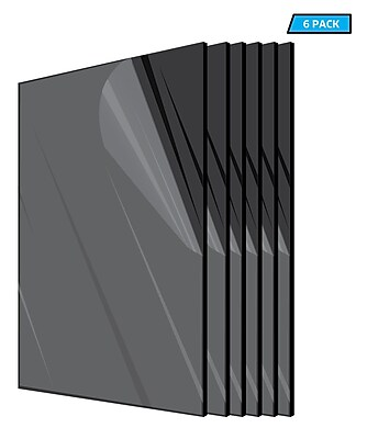 Adiroffice Acrylic Black Water Resistant & Weatherproof Plexiglass Sheet, 12