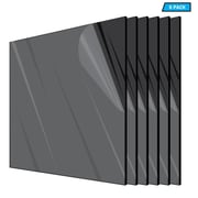"Adiroffice Acrylic Black Durable Water Resistant And Weatherproof Plexiglass Sheet, 12"" x 12"", 1/8"" Thick, 6/Pack (1212-6-B)"