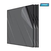 "AdirOffice Acrylic Sheet, 12"" x 12"", 1/8"" Thick, Black, 3/Pack (1212-3-B)"