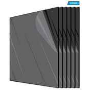 "Adiroffice Acrylic Black Water Resistant & Weatherproof Plexiglass Sheet, 24"" x 36"", 1/8"" Thick, 6/Pack (2436-6-B)"