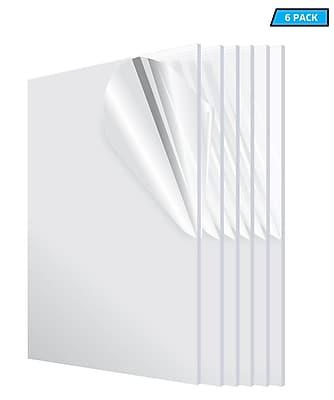 Adiroffice Acrylic Clear Water Resistant & Weatherproof Plexiglass Sheet 12
