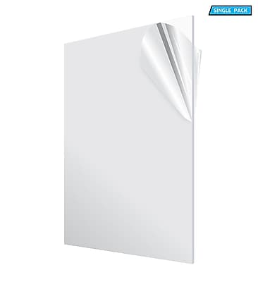 Adiroffice Acrylic Clear Durable Water Resistant And Weatherproof Plexiglass Sheet, 24