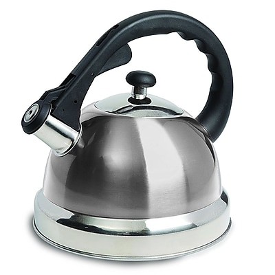 Mr. Coffee Claredale 1.7 Qt Whistling Tea Kettle, Stainless Steel