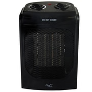 Vie Air 1500W Portable 2 Setting Fan Heater Black (VA-601)