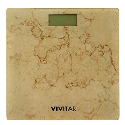 Vivitar Digital Marble Print Scale, Brown 400Lbs. (PS-V145-BRN)