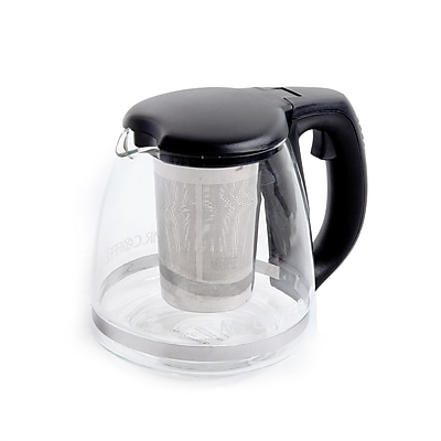 Mr. Coffee Zen Brew 32 oz Coffee and Tea Pot , Glass/Black (935100697M)