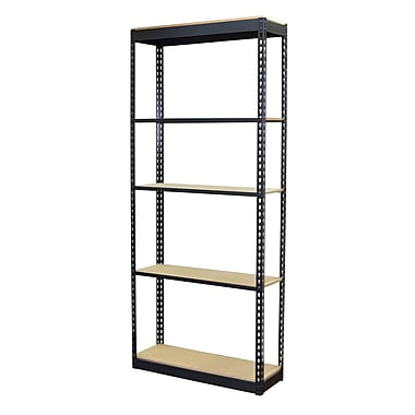 Storage Concepts Office Shelving, Low Profile Boltless, 5 Shelves with Particle Board, 72