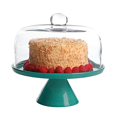 Studio California Nordic Cool Cake Stand With Glass Dome in Teal (116808.02)
