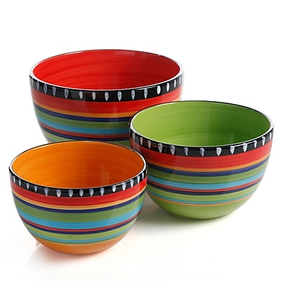Gibson Pueblo Springs 3 pc Bowl Set (92124.03)
