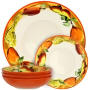 Elama Fruitful Bounty 5 Piece Pasta Serving Bowl Set (ELM-FRUITFUL-BOUNTY-5)