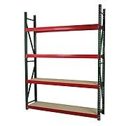 "Storage Concepts Archive Shelving, 4 Shelves, 96""H x 96""W x 18""D, Holds 56 - 15"" Deep Boxes (BRS3-9618096W-4)"