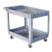 "Storage Concepts Plastic Service Cart, 2 Shelves, 32""H x 30""W x 16""D Gray (SCP1630)"