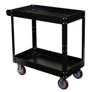 "Storage Concepts Service Cart, 2 Shelves, 32""H x 30""W x 16""D Gray Powder Coated Finish (SCK1630)"