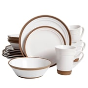 Gibson Elite Brynn 16 Piece Dinnerware Set, White (94848.16)
