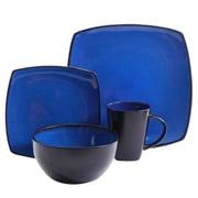 Gibson Elite Soho Lounge 16 pc Dinnerware Set - Soft Square - Blue - Reactive - Stoneware (93599926M)