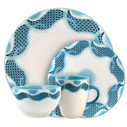 Elama Seashore Breeze 16 Piece Service for 4 Stoneware Dinnerware Set (ELM-SEASHORE-BREEZE-16)