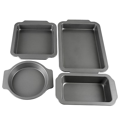 Oster Baking Shop 4-Piece Non-Stick Bakeware Set, Grey (109405.04)