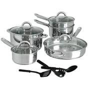 Gibson Cusine Select Abruzzo Stainless Steel 12 Piece Cookware Set (93586655M)