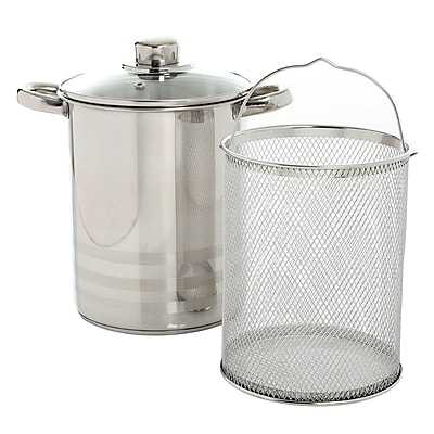 Oster Balfour Stainless Steel Asparagus Pot with Basket Insert (935100931M)