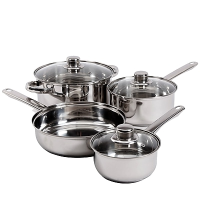 Gibson Home Landon 7-Piece Stainless Steel Cookware Set (93586656M)