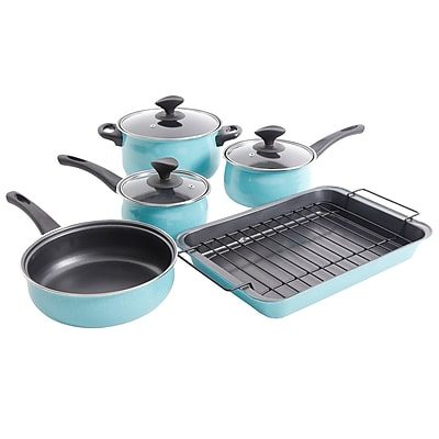 Sunbeam Kelfield 9-Piece Turquoise Cookware Set (935100960M)
