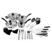 Gibson Total Kitchen 30-Piece Cookware & Kitchen Tool Combo Set (93586660M)